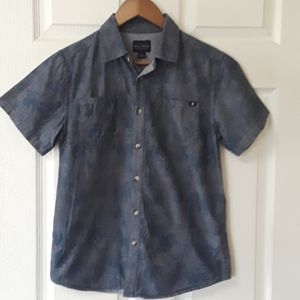 Lucky Brand Sz L Chambray with Palm tree design